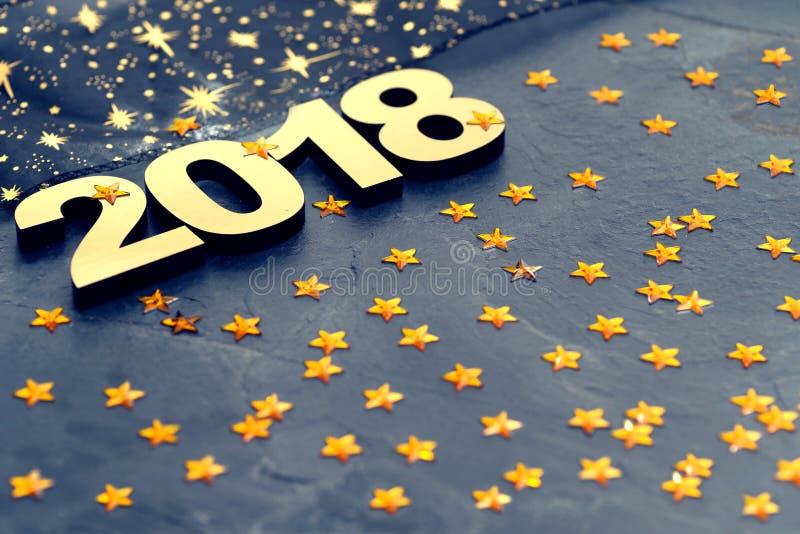 Happy New Year 2018 stock photography