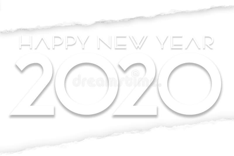 Happy New Year 2020 Art vector illustration