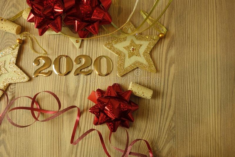 Happy New Year 2020 royalty free stock image
