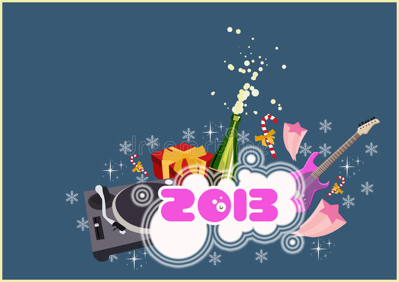 Happy new year background royalty free illustration