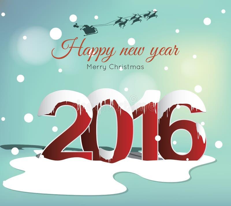 Happy new year 2016 royalty free illustration