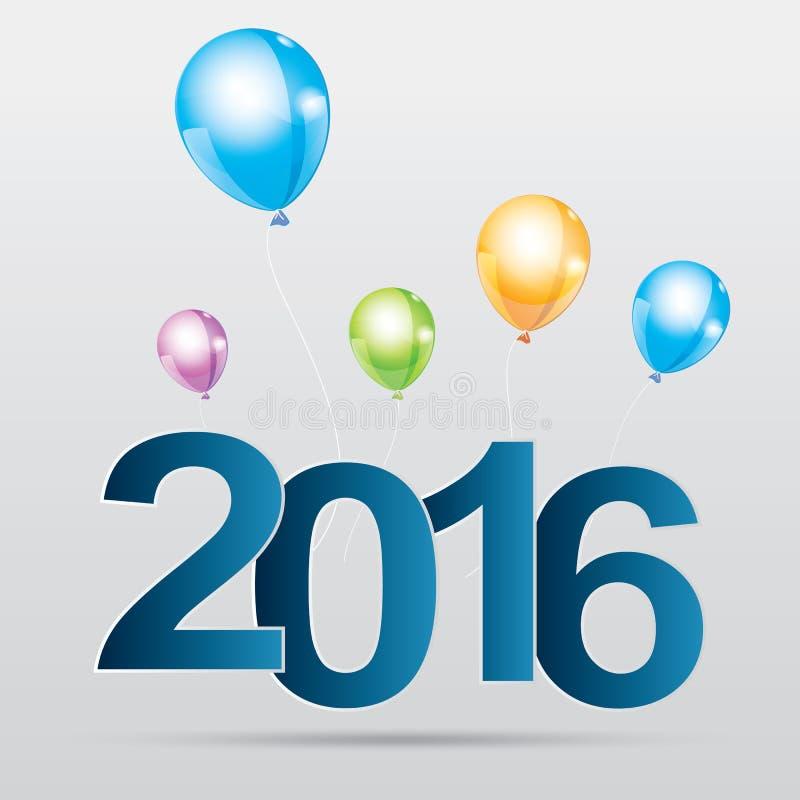 Happy new year 2016 vector illustration