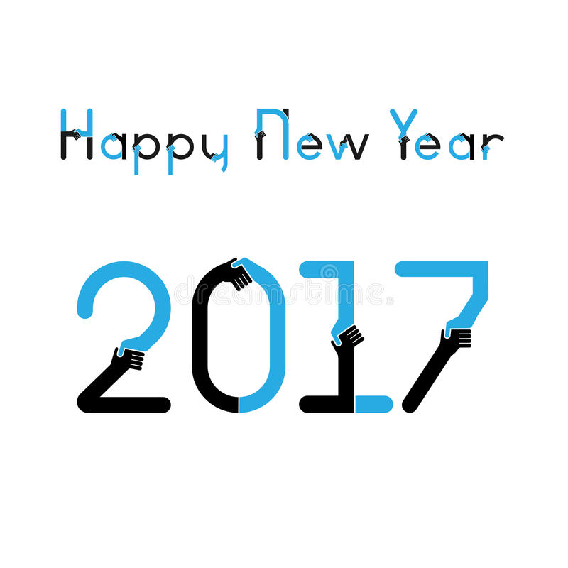 Happy New Year 2017 Background.Business Greeting Card Design ...