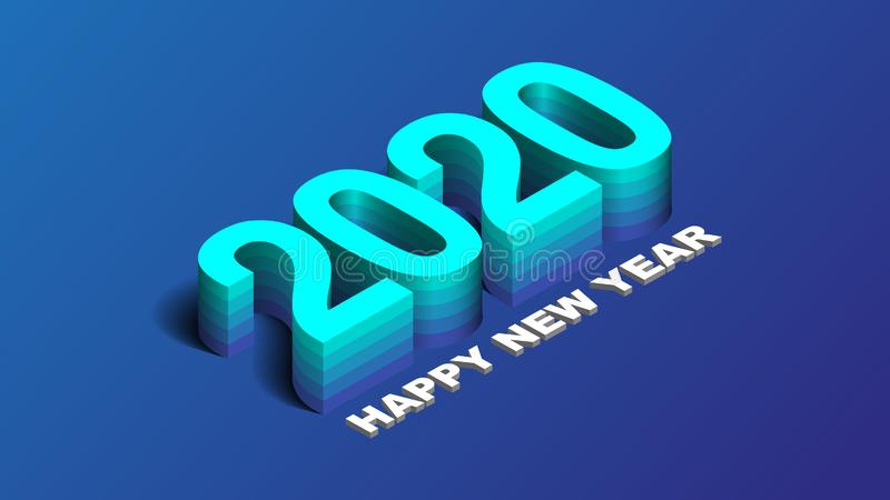 2020 Happy New Year Background, Card, Banner, Flyer Or Christmas Themed Invitations. royalty free stock photo