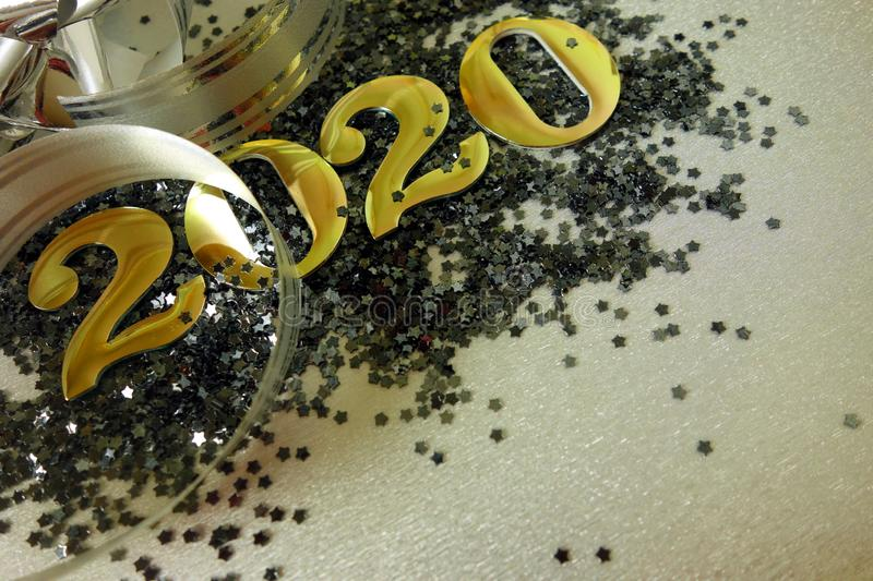 Happy New Year 2020. Background concept stock photos