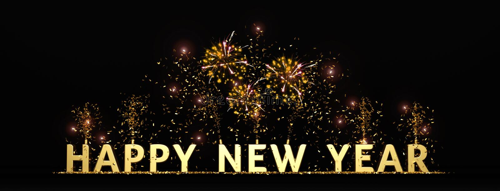 Happy new year 2020 illustration. Happy new year 2020 background with confettis vector illustration