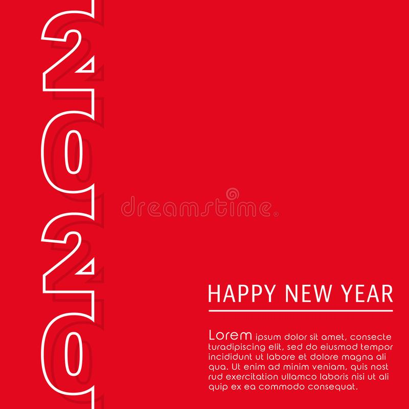 2020 Happy New Year background design for greeting card, flyer, poster, brochure cover, typography or other printing products. Vector illustration vector illustration