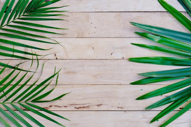 Happy new year background. Eco nature theme. Happy new year background. Wood table decorated with green leaf and pine cone under romantic light tone. Eco nature stock images