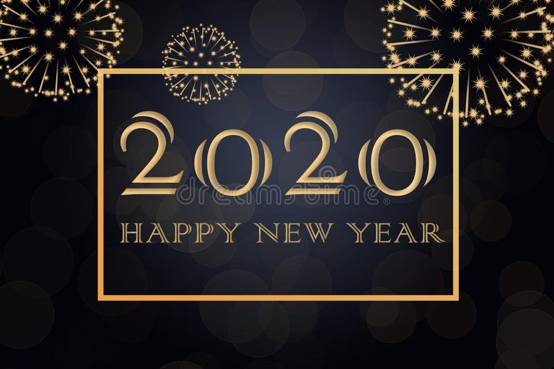 Happy New Year 2020 background vector illustration