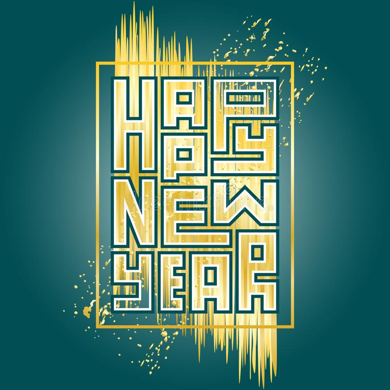 Happy New Year background. Greeting card or invitation. vector illustration