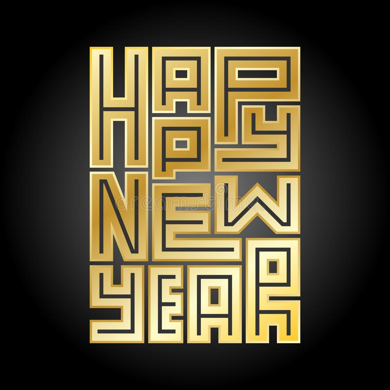 Happy New Year background. Greeting card or invitation. stock illustration