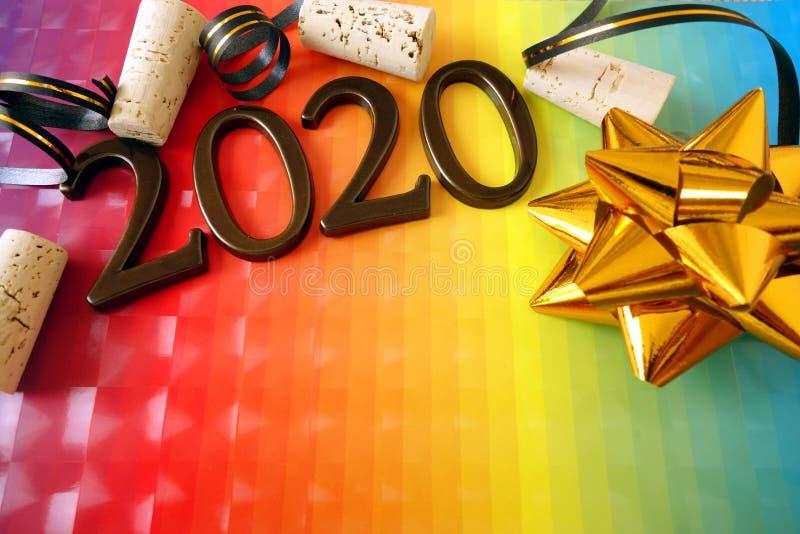 Happy new year 2020. Background stock photo