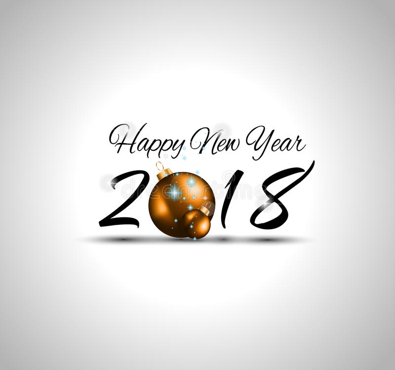 2018 Happy New Year Background for Seasonal Flyers and Greetings Card or Christmas themed invitations. 2018 Happy New Year Background for your Seasonal Flyers stock illustration