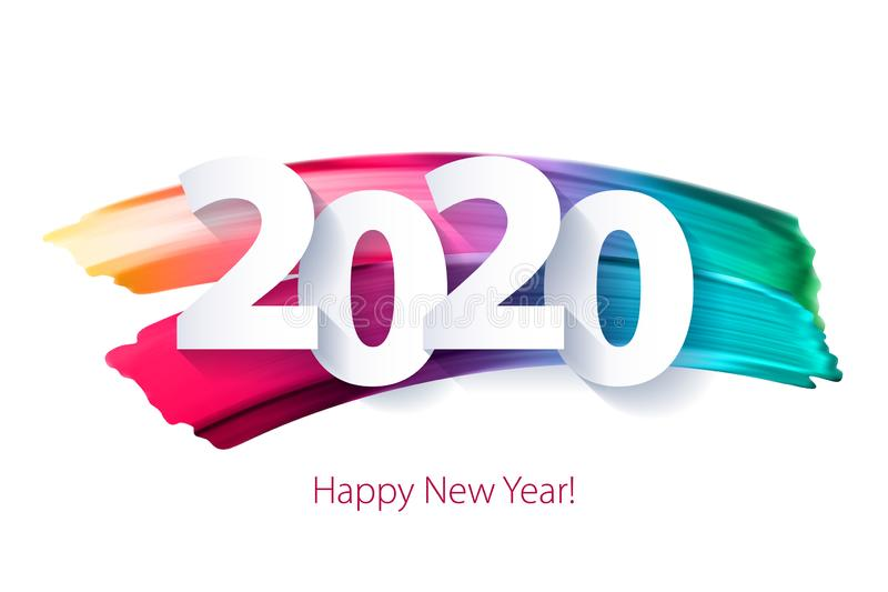 2020 Happy New Year background. Seasonal greeting card template. royalty free illustration