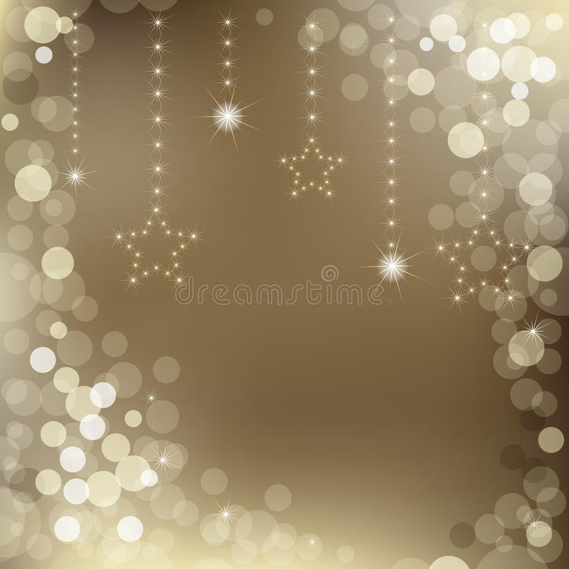 Happy New Year Background. Vector. Happy New Year Background With Stars And Text, Vector Illustration
