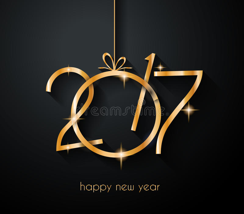 2017 Happy New Year Background for your Flyers and Greetings Card. vector illustration
