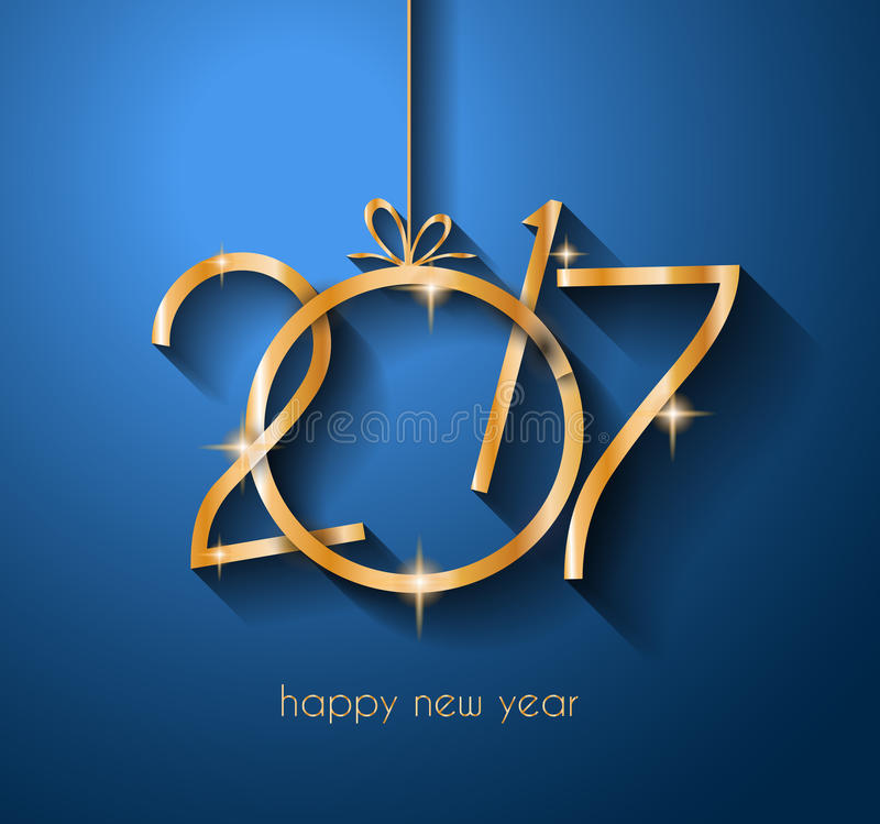 2017 Happy New Year Background for your Flyers and Greetings Card. stock illustration
