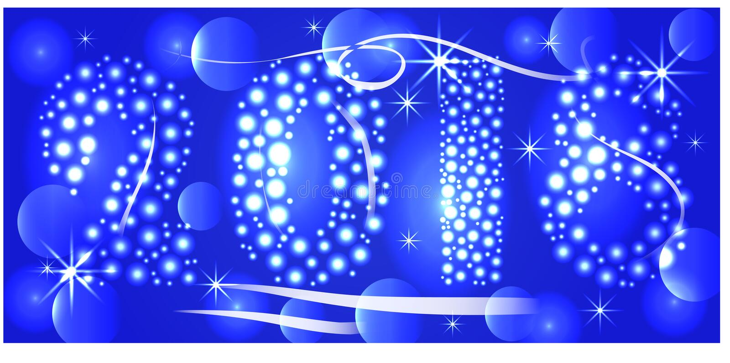 2018 Happy New Year Background for your Seasonal Flyers and Greeting Card ou convites temáticos de Natal ilustração do vetor