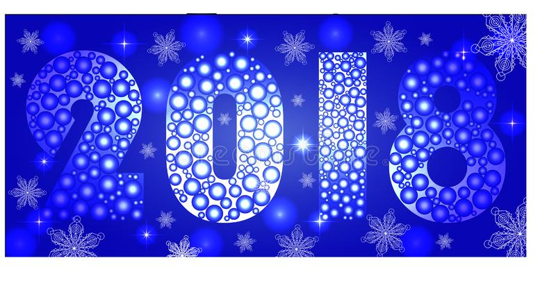 2018 Happy New Year Background for your Seasonal Flyers and Greeting Card ou convites temáticos de Natal ilustração stock