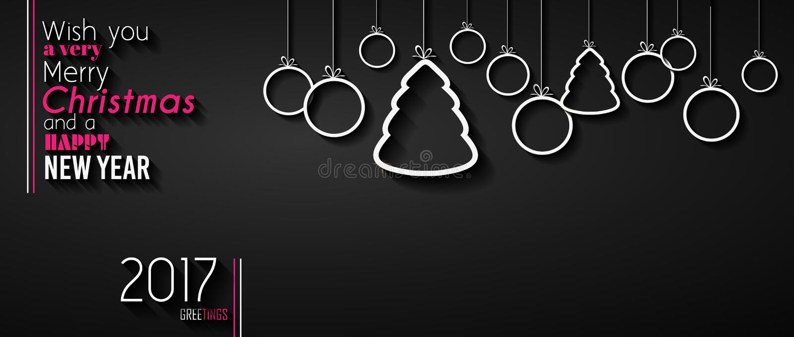 2017 Happy New Year Background for your Seasonal Flyers vector illustration