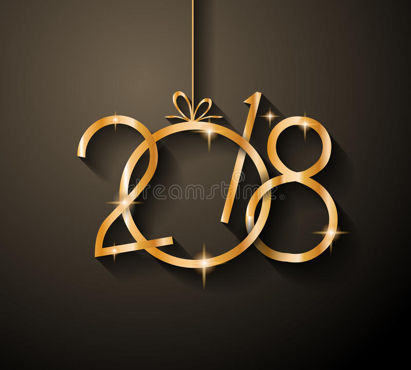 2018 Happy New Year Background for your Seasonal Flyers stock illustration