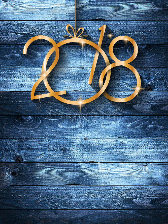 2018 Happy New Year Background for your Seasonal Flyers and Greetings Card royalty free stock photography