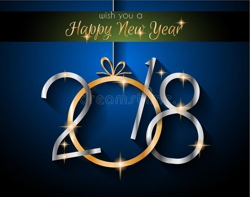2018 Happy New Year Background for your Seasonal Flyers and Greetings Card stock illustration