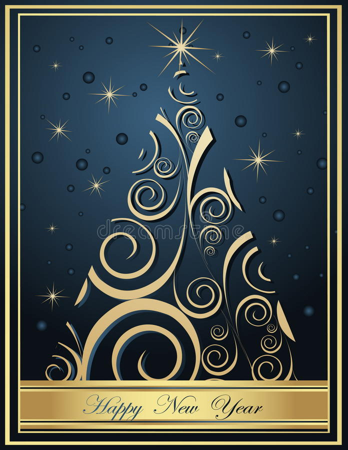 Happy New Year backgrounds stock illustration