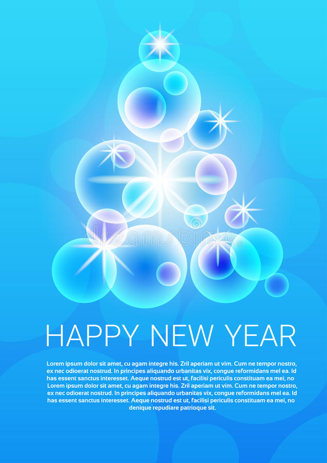 Happy New Year 2017 Banner Merry Christmas Greeting Card royalty free illustration