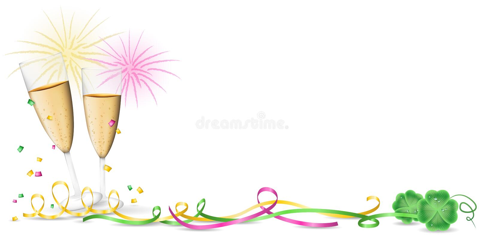 Happy new year vestor banner vector illustration