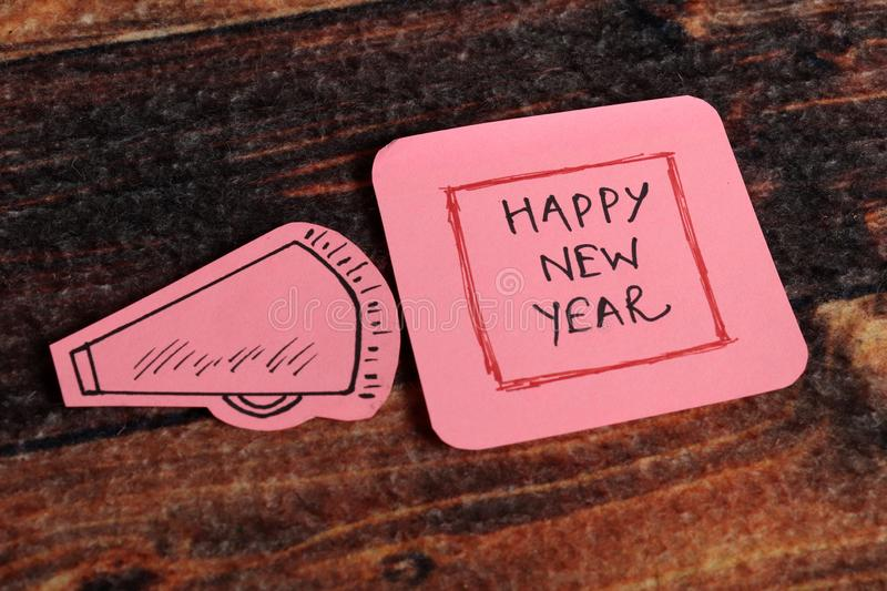 Happy new year. Beautiful image of board written happy new year on it stock images