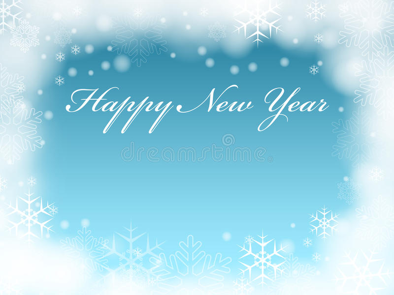 Download Happy New Year in blue stock illustration. Illustration of creative - 12041702