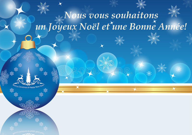 Happy new year blue greeting card in french stock illustration download happy new year blue greeting card in french stock illustration illustration of corporate m4hsunfo