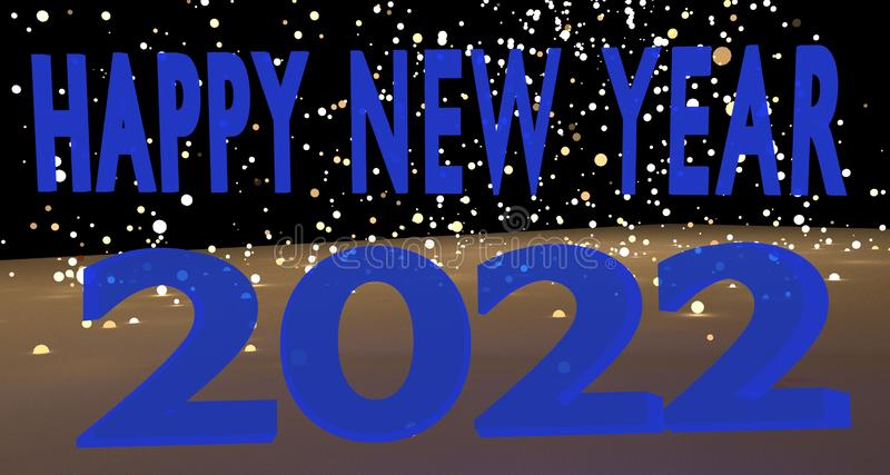 Happy New Year 2022 royalty free stock images