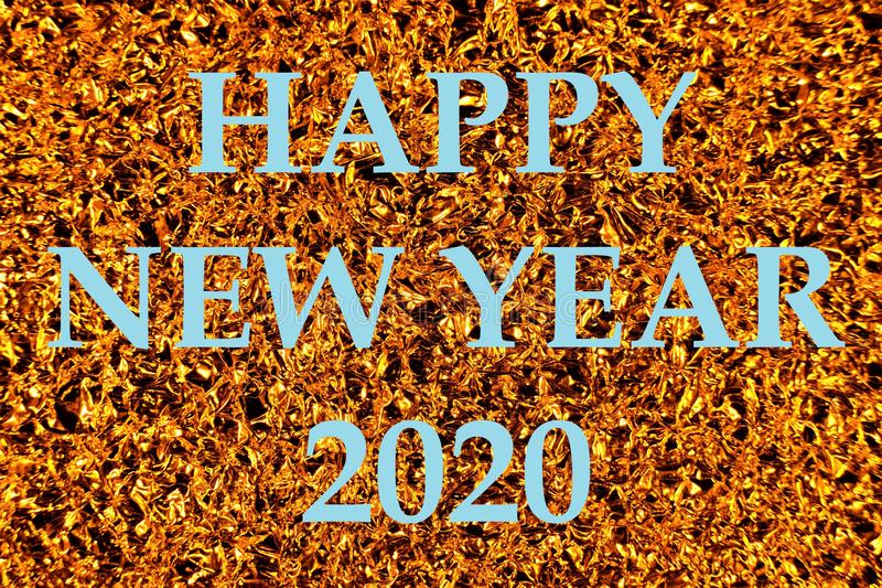 Happy new year 2020-bokeh lights holiday background. Decoration for creative design of new year and Christmas welcome ceremony, stock photo