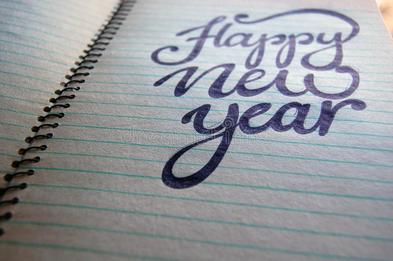 Download Happy New Year Calligraphic Background Stock Illustration - Image: 83712757