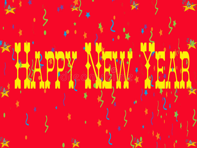 Download Happy New Year Card stock illustration. Image of celebrate - 12285952