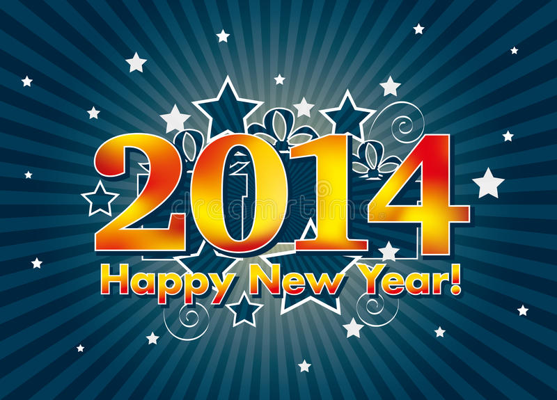 Download 2014 Happy New Year stock image. Image of shine, party - 33919907