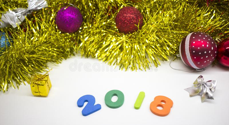 2018 Happy New Year card background stock image