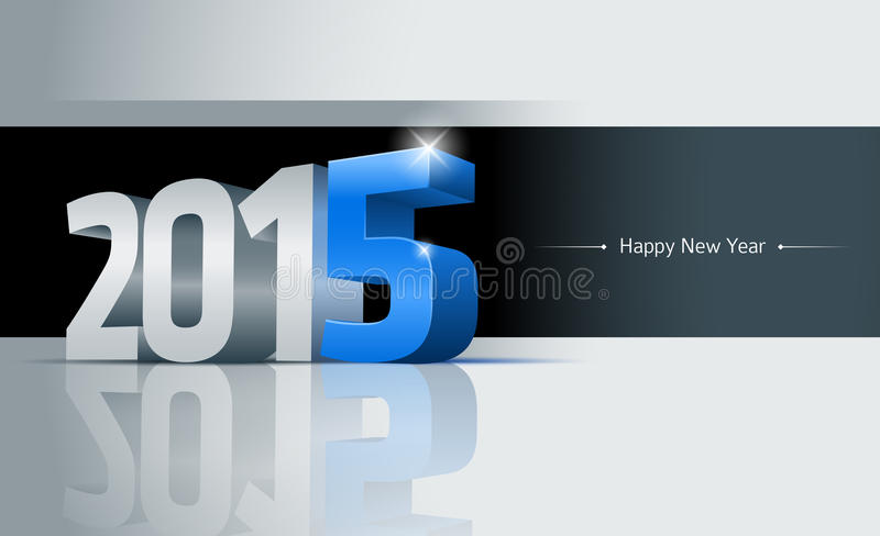 2015 Happy New Year Card. 3D 2015 Happy New Year greeting card. Elements are layered separately. Easy editable