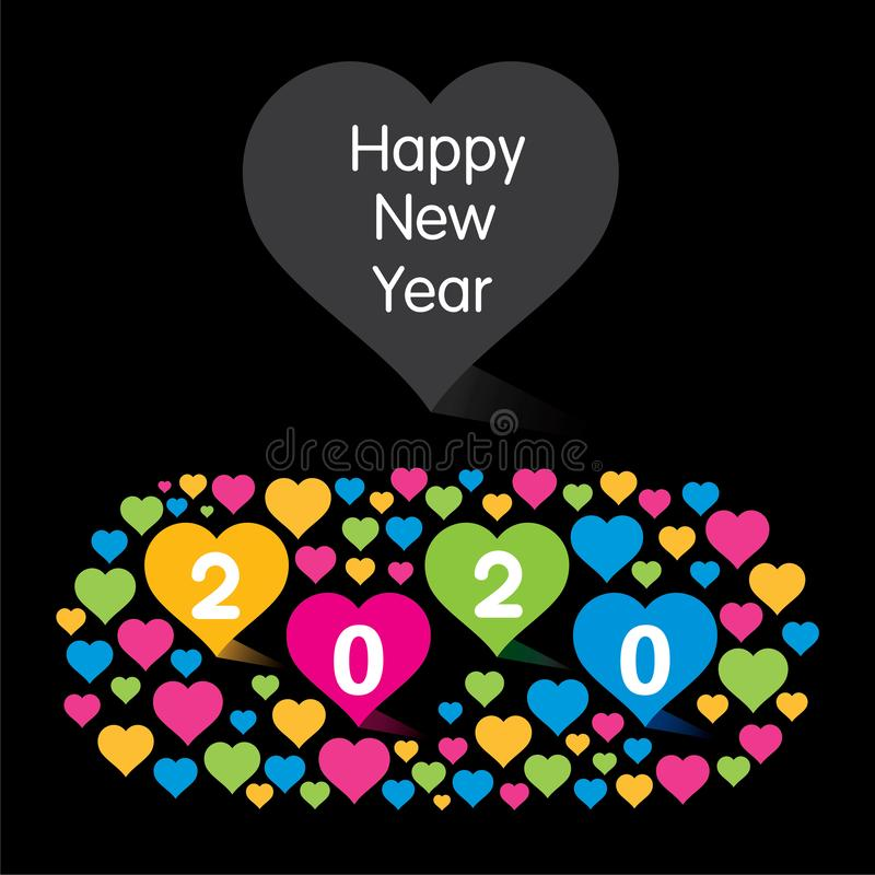 Happy new year 2020 card design concept stock photo