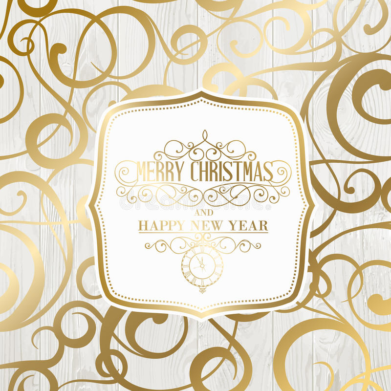 The happy new year card royalty free illustration
