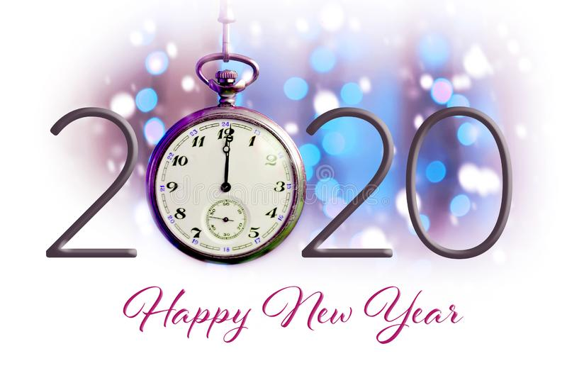 Happy New Year 2020. New Year card stock photo