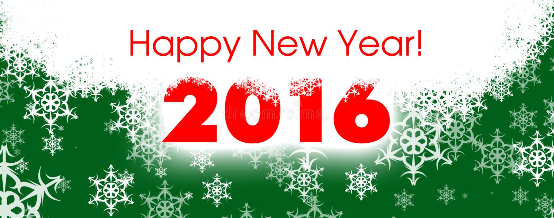 Happy new year card 2016 stock illustration