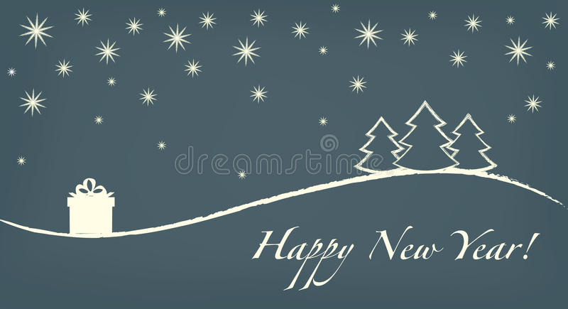 Download Happy new year card stock illustration. Image of sales - 33920129