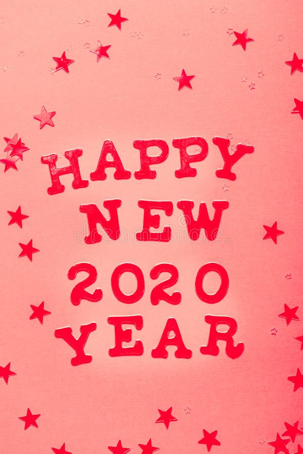 Happy New 2020 Year card royalty free stock photo