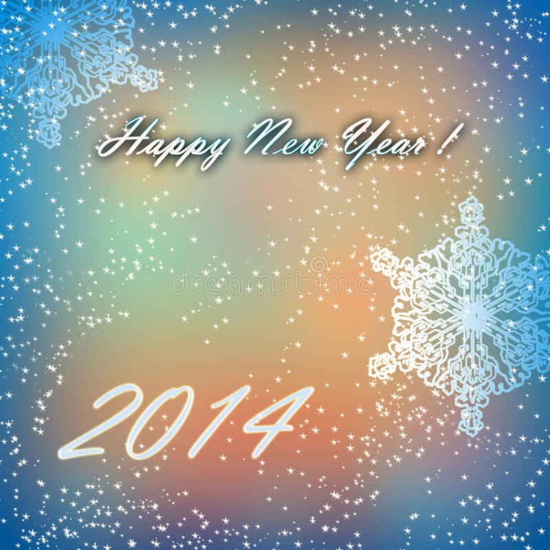 Happy New Year 2014 Card royalty free stock photography