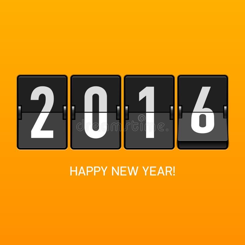 Happy New Year 2016 card royalty free illustration
