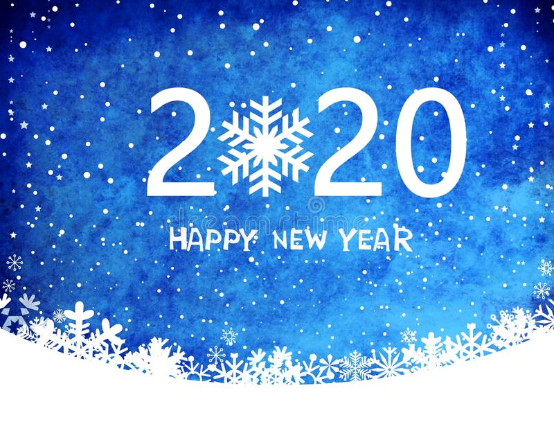 2020 happy new year card tenplate .design pattern on blue background . illustration design  . stock image