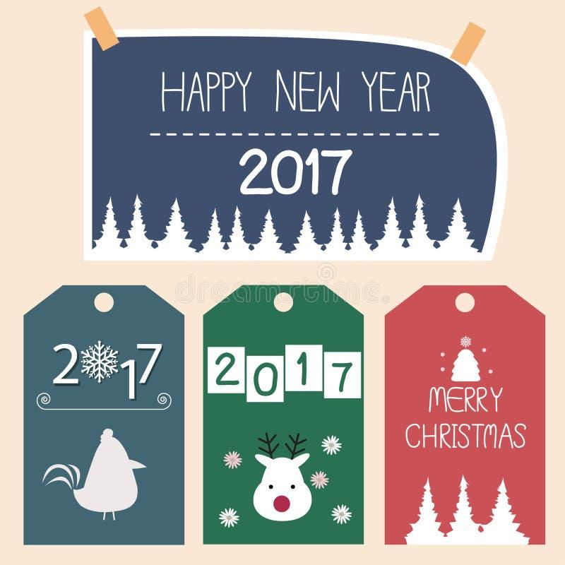 Happy New Year card vector stock photos